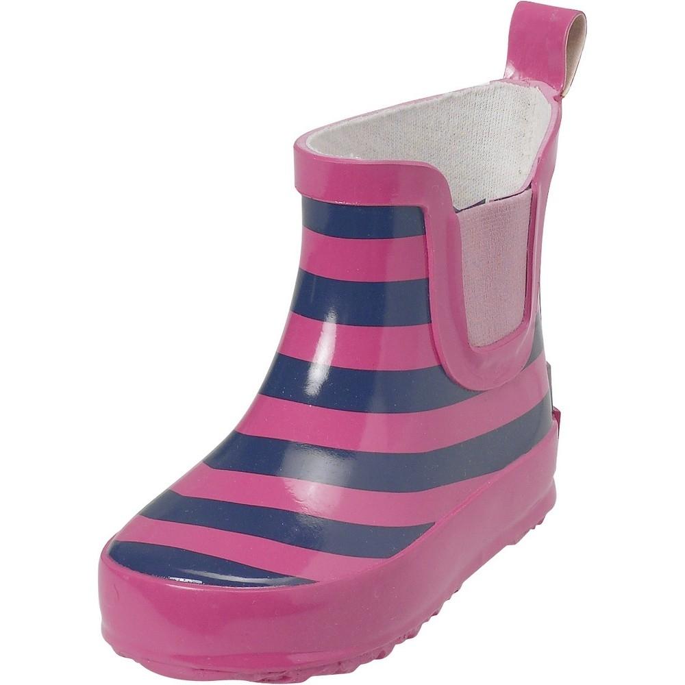 playshoes gummistiefel ringel 372 marine pink gr e 20. Black Bedroom Furniture Sets. Home Design Ideas