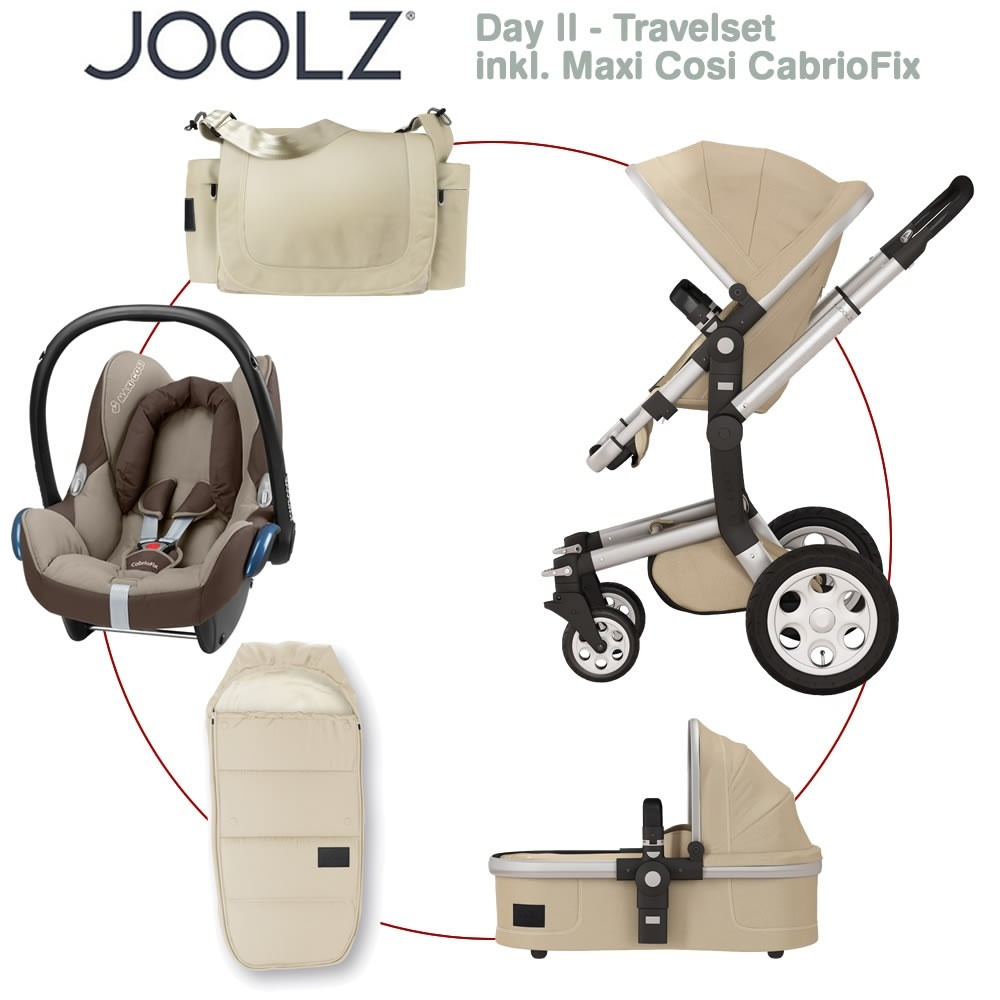 joolz day ii travelset inkl maxi cosi cabriofix sand gestell silber sand silver 2014. Black Bedroom Furniture Sets. Home Design Ideas