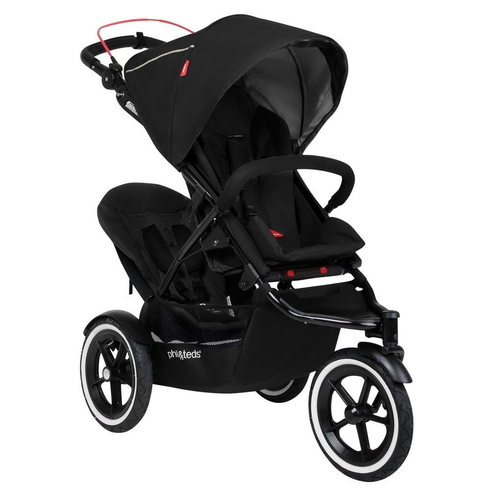buy phil teds navigator 2 inline buggy incl double kit second seat black 2016 for low. Black Bedroom Furniture Sets. Home Design Ideas
