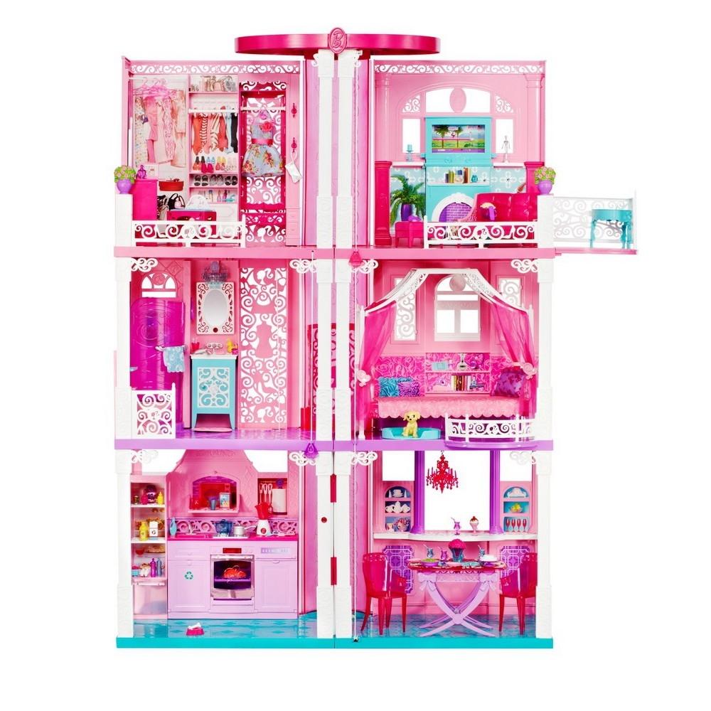 Buy mattel barbie 3 stöckige traumvilla mit zubehör for low prices