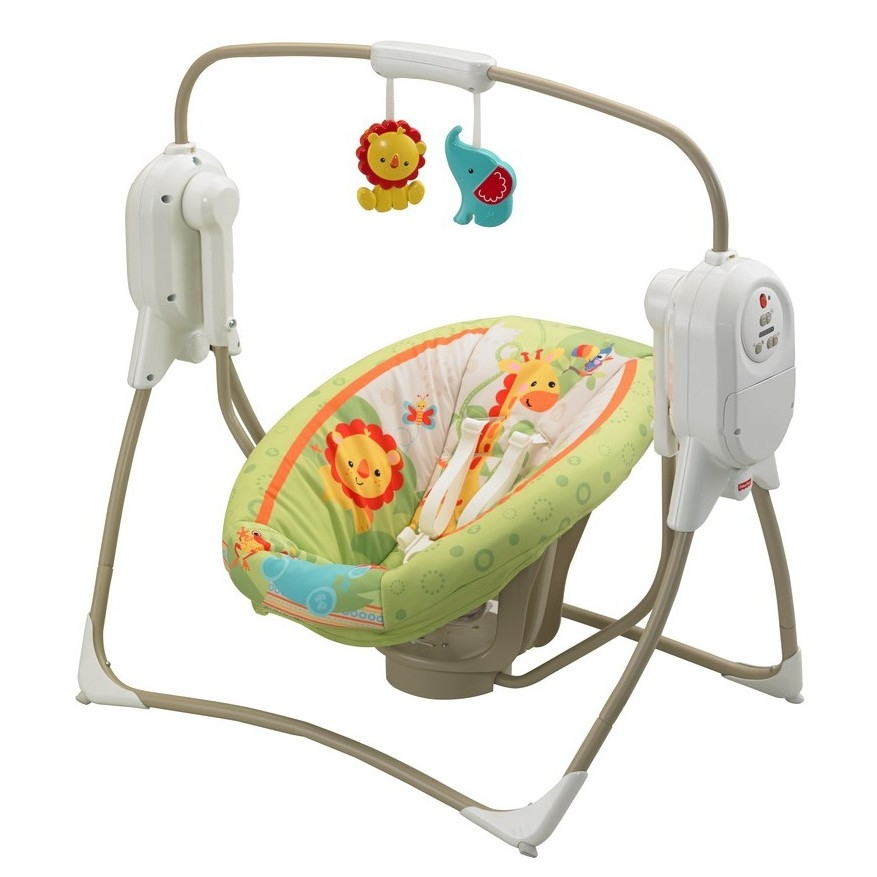 Buy Fisher Price Rainforest Babyschaukel Cradle Swing kompakt BFH05 ...
