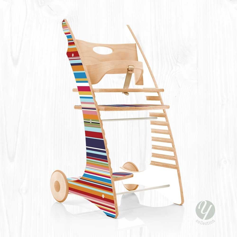 yuunic designer hochstuhl mit sicherheitsb gel fahrbar. Black Bedroom Furniture Sets. Home Design Ideas
