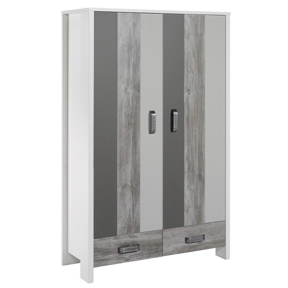 schardt woody grey schrank mit 2 t ren g nstig online. Black Bedroom Furniture Sets. Home Design Ideas