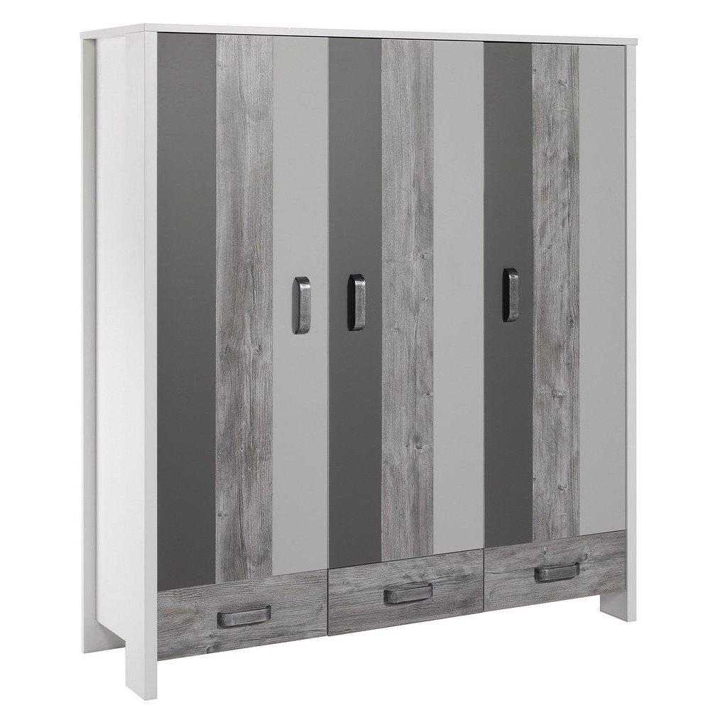 schardt woody grey schrank mit 3 t ren g nstig online. Black Bedroom Furniture Sets. Home Design Ideas