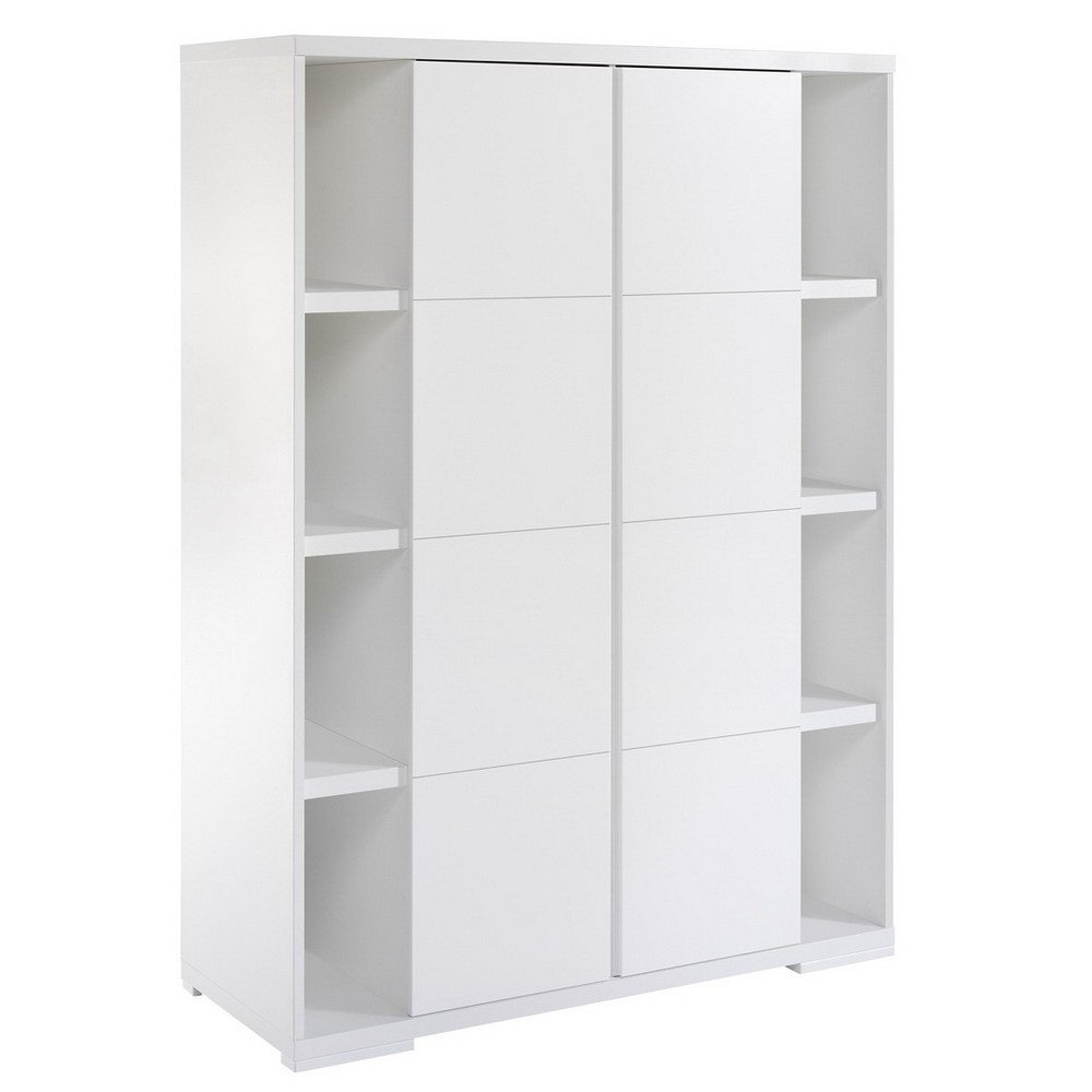 schardt maximo white schrank mit 2 t ren und seitenregalen. Black Bedroom Furniture Sets. Home Design Ideas