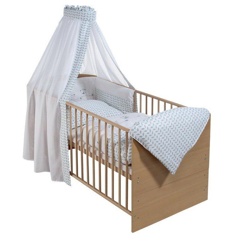 schardt kombi kinderbett 70x140 cm classic line holzdekor buche natur lackiert g nstig online. Black Bedroom Furniture Sets. Home Design Ideas
