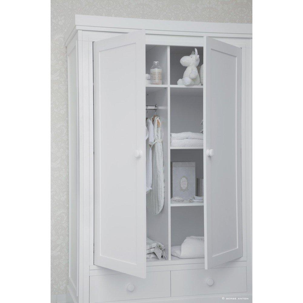 woodwork will kleiderschrank mit 2 t ren wei g nstig. Black Bedroom Furniture Sets. Home Design Ideas