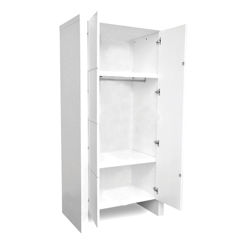 woodwork jules kleiderschrank mit 2 t ren wei g nstig. Black Bedroom Furniture Sets. Home Design Ideas