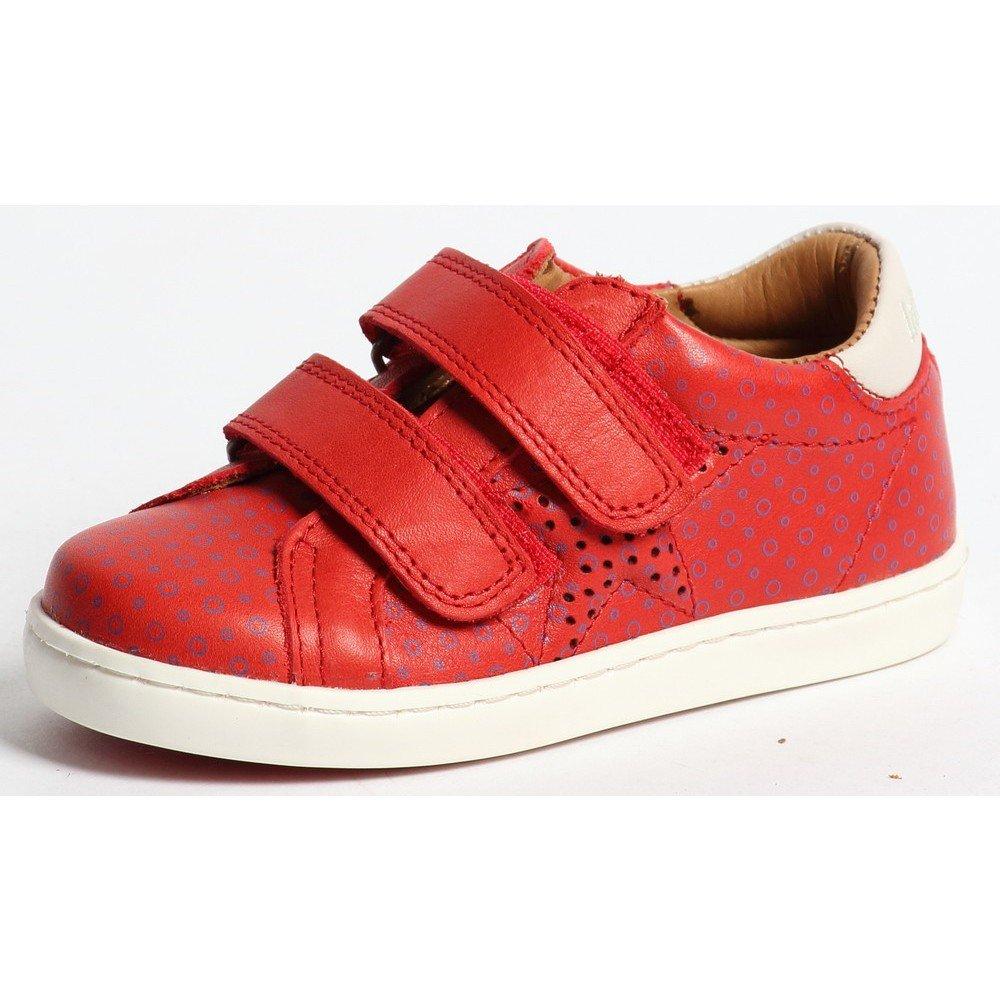 bisgaard sneaker mit klett 147 red blue spots gr e 28 g nstig online kaufen bei. Black Bedroom Furniture Sets. Home Design Ideas