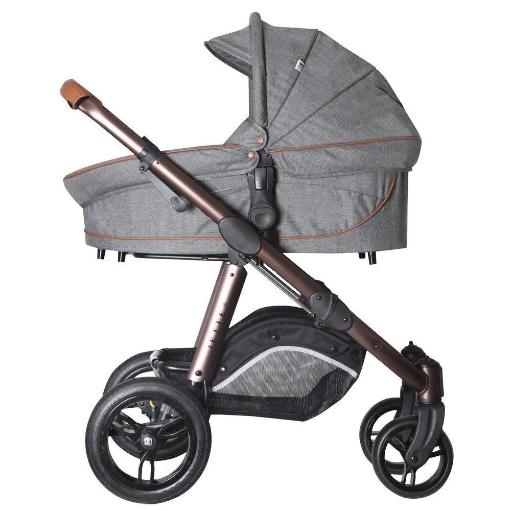 jette joel air kinderwagen inkl babywanne grey flanell 2016 g nstig online kaufen bei. Black Bedroom Furniture Sets. Home Design Ideas