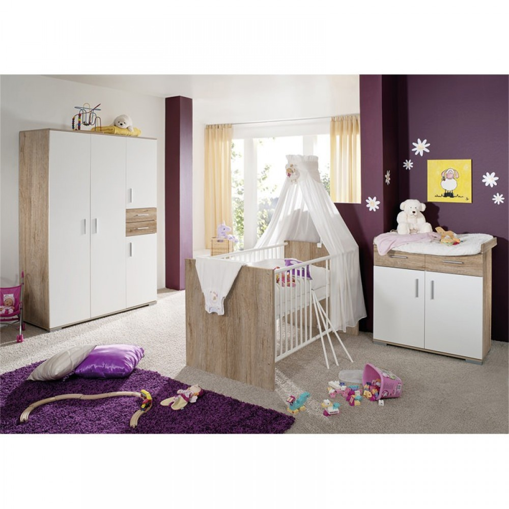 baby plus clara kinderzimmer san remo weiss g nstig online kaufen bei. Black Bedroom Furniture Sets. Home Design Ideas