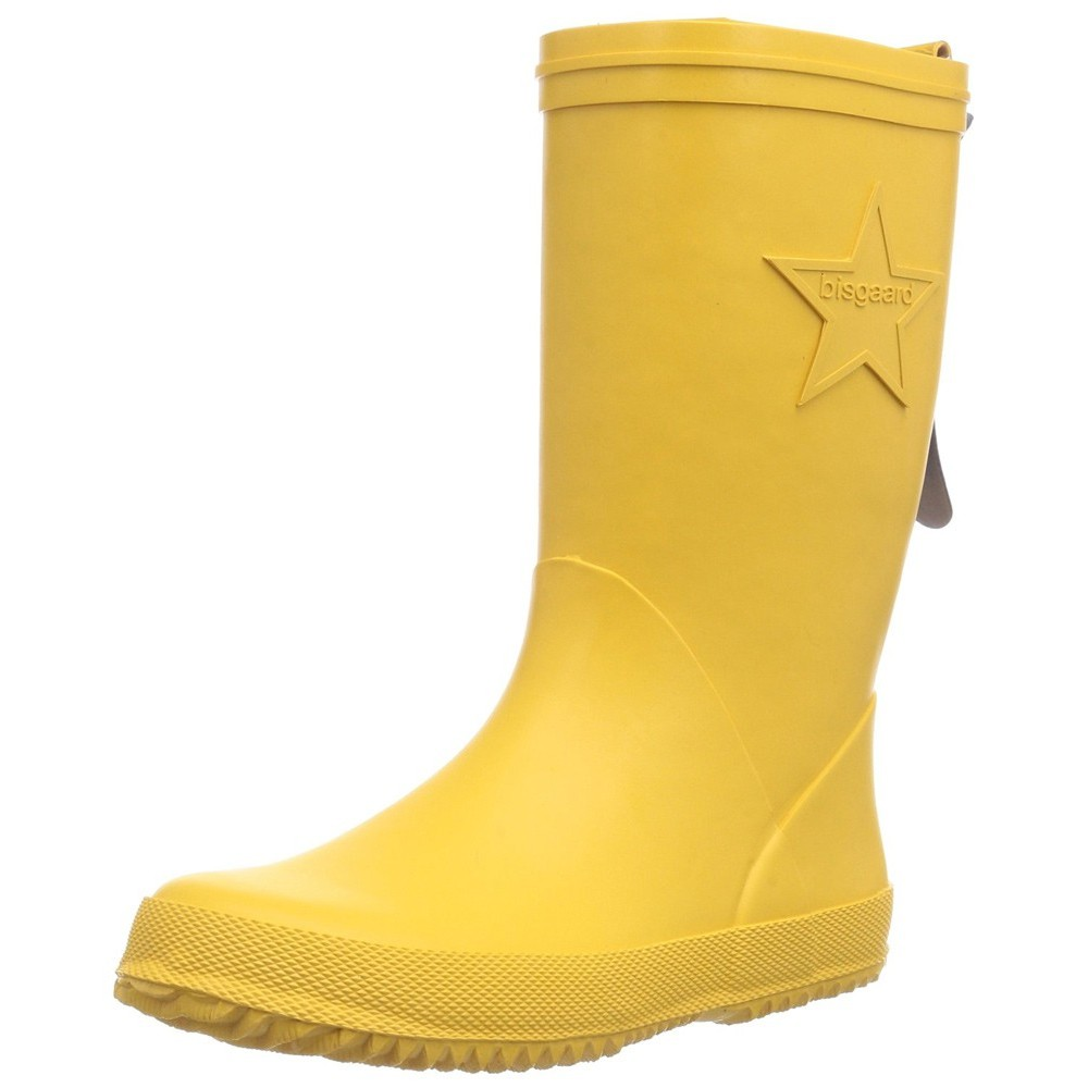 Bisgaard Unisex-Kinder Rubber Boot Star Gummistiefel, Gelb (80 Yellow), 39 EU