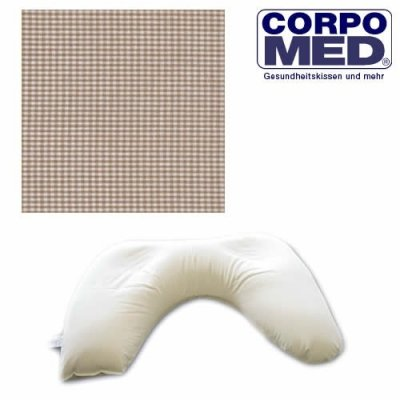 Corpomed Twins Nursing Cushion incl. Cover - 179 Kariert Beige