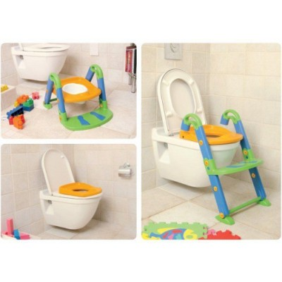 ROTHO Kidskit Toilet- Trainer 3 in 1, bunt