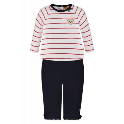 Steiff 2tlg. Set T-Shirt 1/1 Arm + Leggings, Größe: 74 - 2018