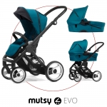 Mutsy EVO Multifunctionstroller incl. Carrycot - Black / PACIFIC - 2014