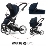 Mutsy EVO Multifunctionstroller incl. Carrycot - Standard / NAVY BLUE - 2014