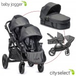 Baby Jogger City Select Set mit Zweitsitz und 1 Wanne - BLACK DENIM Special - 2014