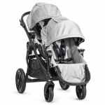 Baby Jogger City Select Zwillingswagen Set mit Zweitsitz - SILVER - 2014