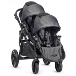 Baby Jogger City Select Zwillingswagen Set mit Zweitsitz - BLACK DENIM Special - 2014