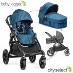 Baby Jogger City Select Kombikinderwagen Set mit Wanne - TEAL - 2014