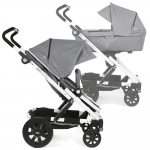 BRIO GO Next Stroller with Carrycot - GREY MELANGE / Chassis Wei� - 2014