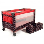 CHIC 4 BABY Travel Bed Luxus - ORBIT RED - 2014