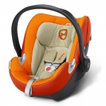 Cybex Aton Q Platinum, Isofix optional - AUTUMN GOLD / BURNT RED - 2015