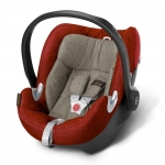 Cybex Aton Q Plus Platinum, Isofix optional - AUTUMN GOLD / BURNT RED - 2015