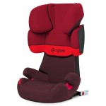 Cybex Solution X-Fix Silver, Isofix - RUMBA RED / DARK RED - 2015