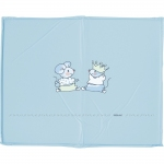 bebe-jou Playpen mattress 100x80cm, Design - 53 LITTLE MICE HELLBLAU - 2015