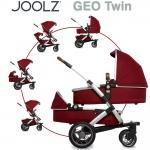 Joolz GEO Earth TWIN mit Sportsitz, Wanne und Wanne/Sitz unten - LOBSTER RED - 2015