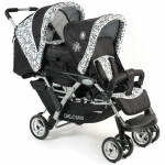 CHIC 4 BABY Duo Geschwisterwagen - Flowers Black - 2015
