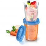 Philips Avent Babynahrungs-Mehrwegbecher mit Deckel, 240 ml (5 St�ck)