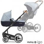 Mutsy IGO Kombikinderwagen - PURE BLACK / PURE BRIGHT SKY - 2015