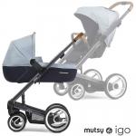 Mutsy IGO Kombikinderwagen - PURE DARK GREY / PURE BRIGHT SKY - 2015