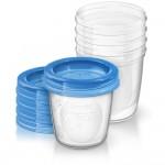 Philips Avent Aufbewahrungsbecher f�r Muttermilch mit Deckel, 180 ml (5 St�ck)