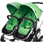 Firstwheels City Twin - 2x Seat fabric GREEN