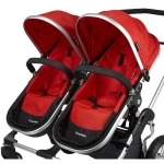 Firstwheels City Twin - 2x Seat fabric RED 2009